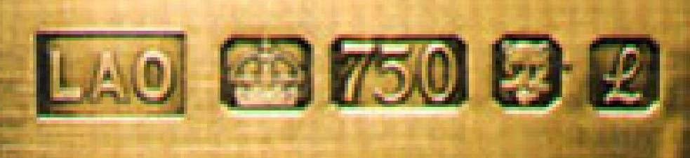 Marcas inglesas para el oro