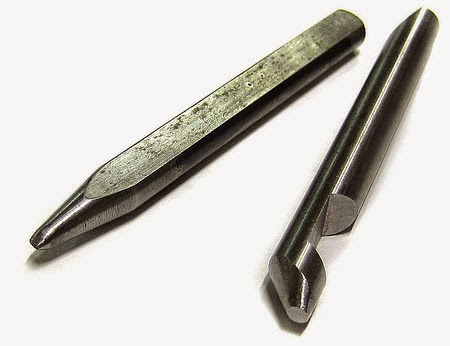 Punzones, recto de todo uso, y con cavidad lateral para anillos