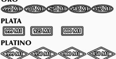 Marcas que permiten identificar las joyas